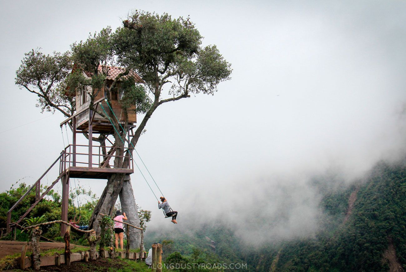 The crazy swing at casa del rbol in ba os bucket list for Casa del arbol cuenca
