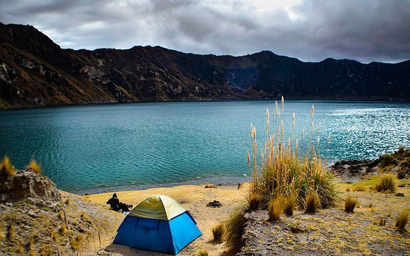 Find the perfect spot to set up your tent and enjoy the view